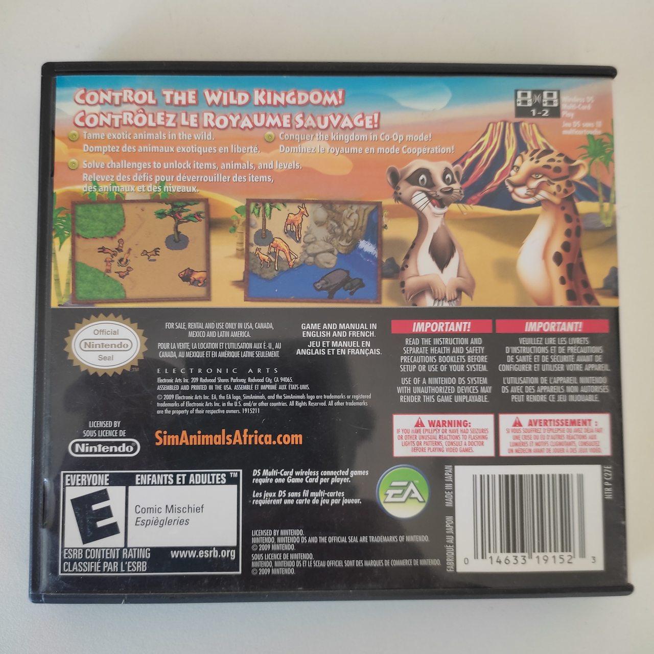 SimAnimals Africa - Nintendo DS - Usado