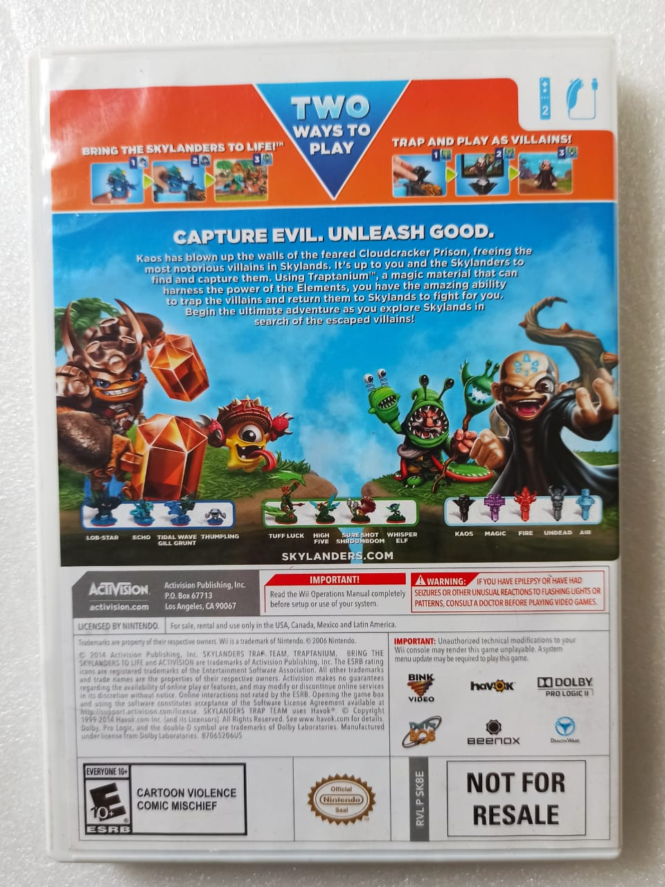 Skylanders: Trap Team - USADO - Nintendo Wii