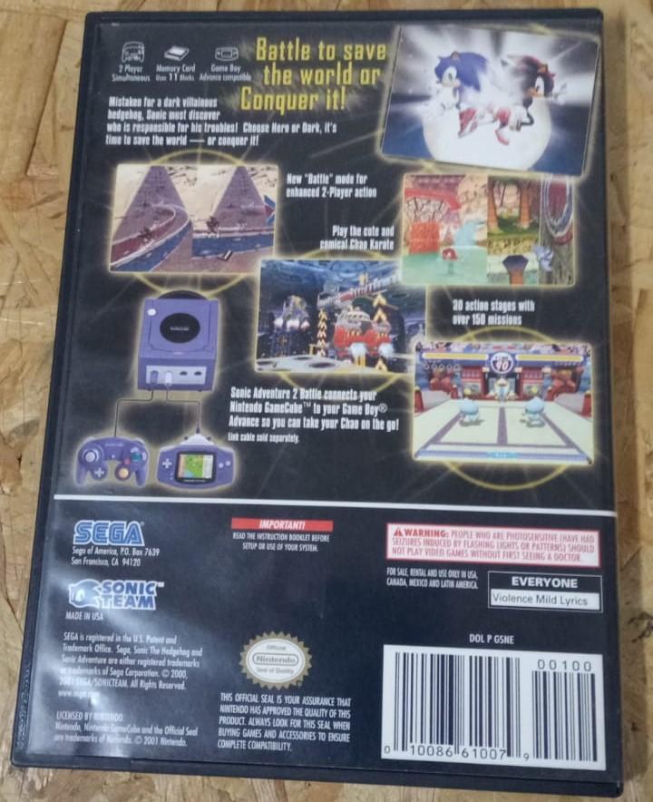 Sonic Adventure 2 Battle - USADO - Nintendo GameCube