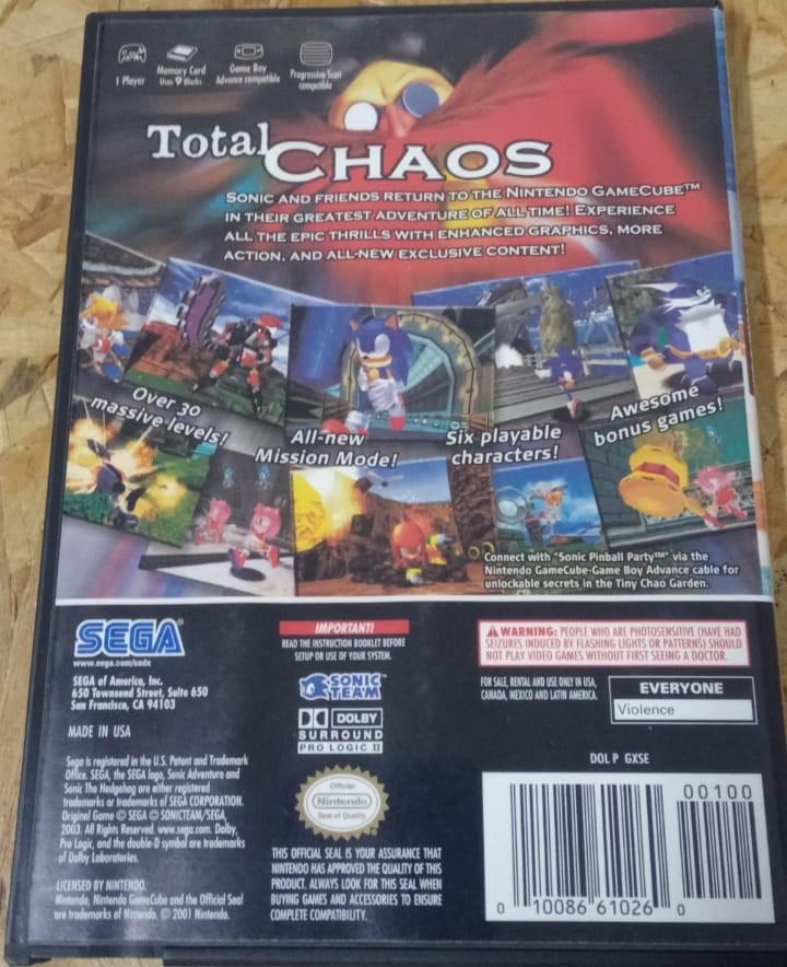 Sonic Adventure DX: Director's Cut - USADO - Nintendo GameCube