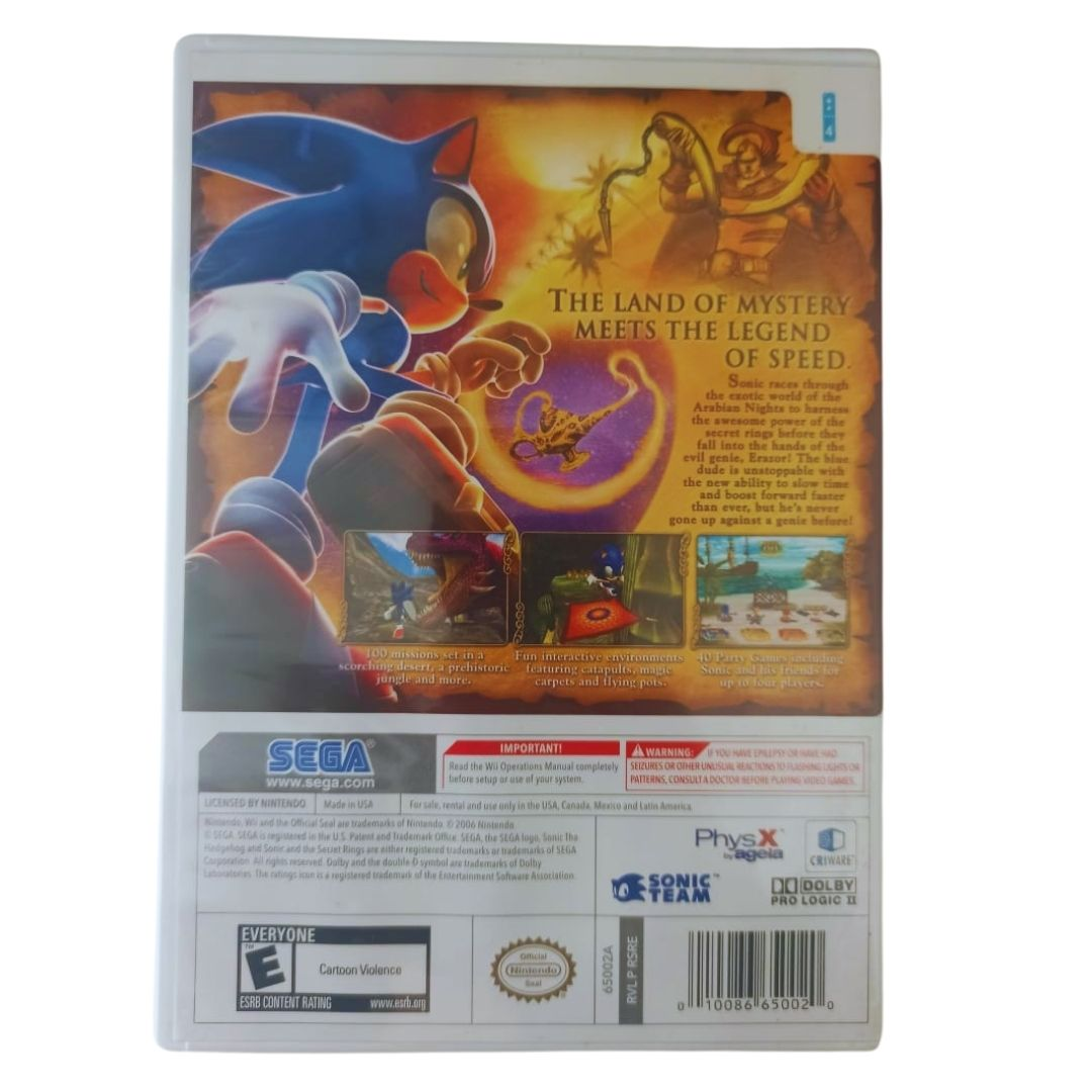 Sonic and the Secret Rings - Nintendo Wii - Usado
