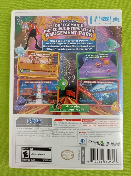 Sonic Colors - USADO - Nintendo Wii