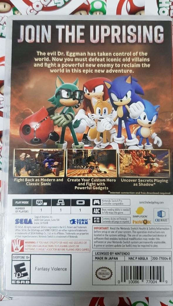 Sonic Forces - Nintendo Switch - USADO - Frete Grátis