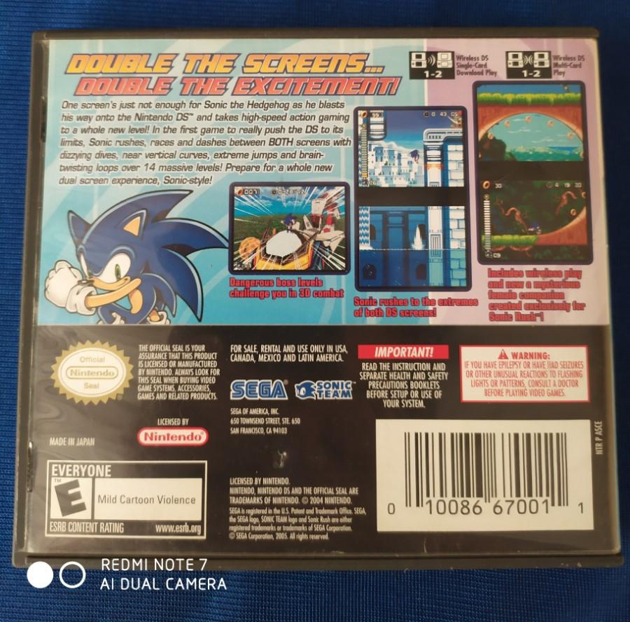 Sonic Rush - Nintendo DS - Usado - Frete Grátis