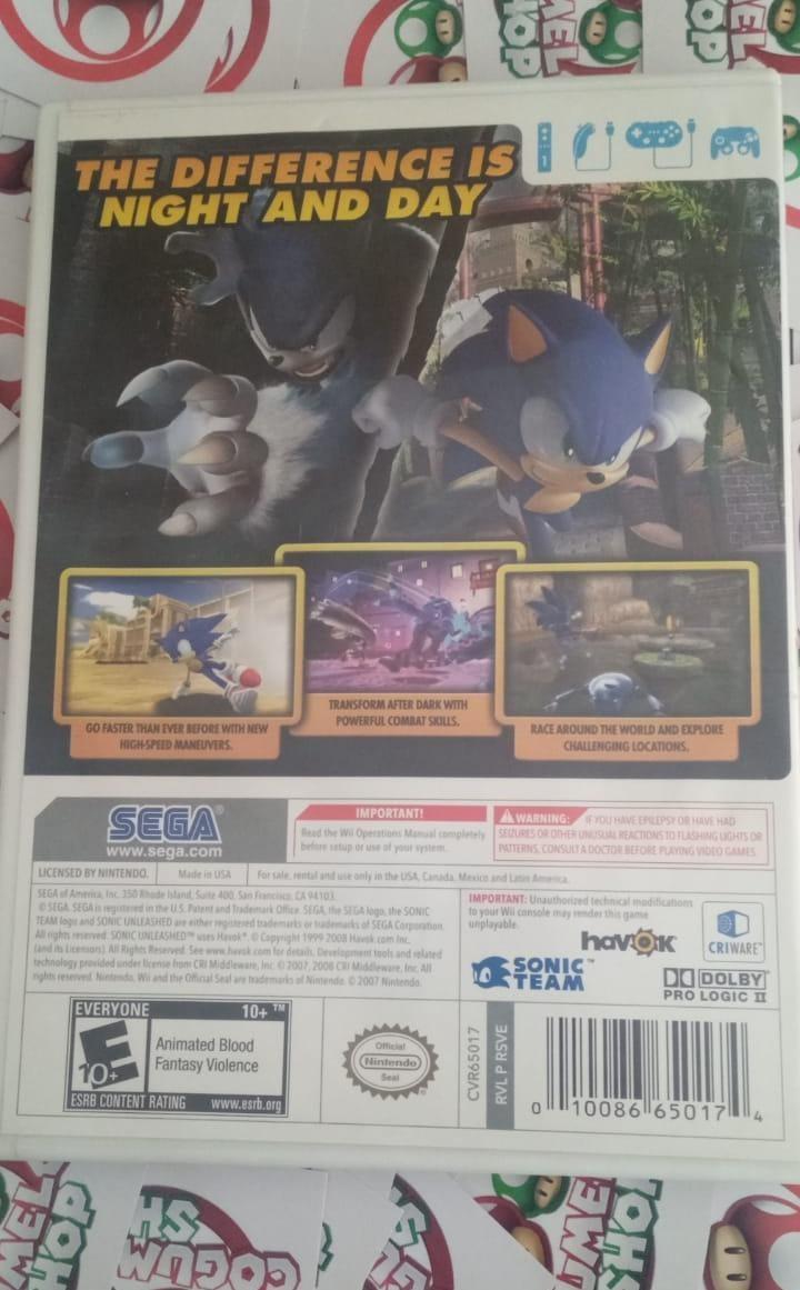 Sonic Unleashed - USADO - Nintendo Wii