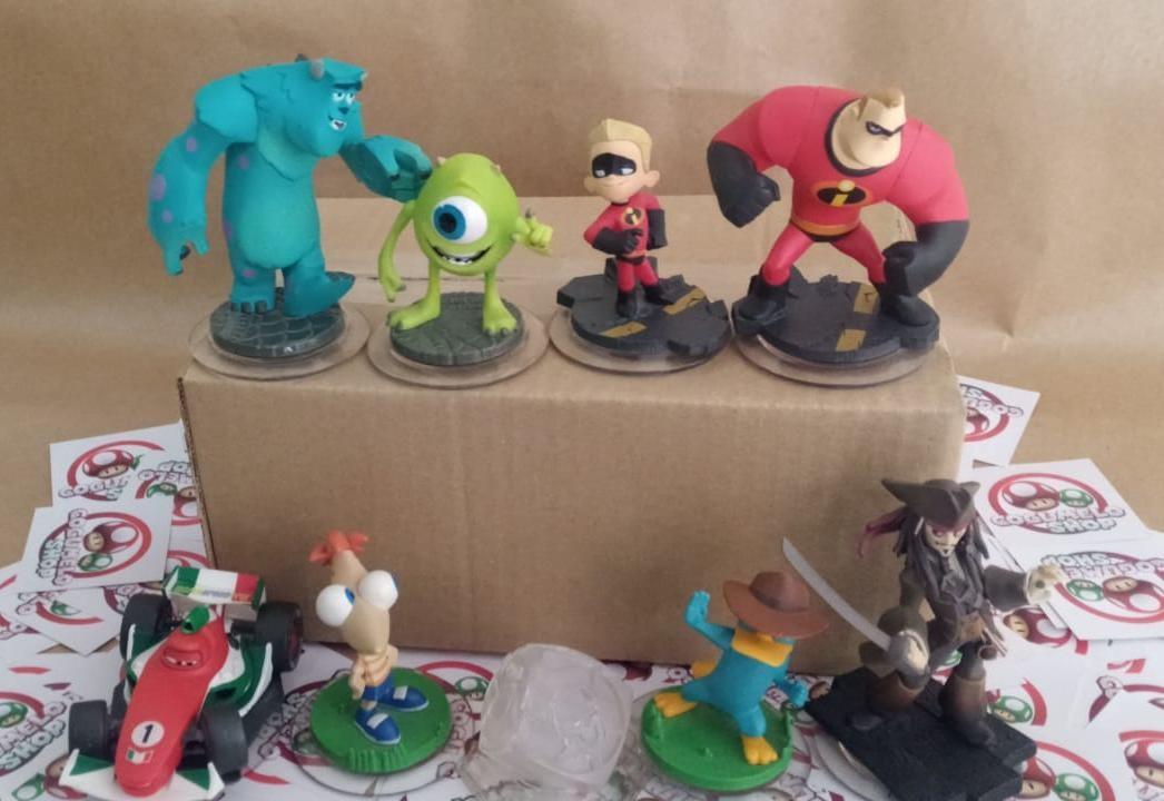Starter Pack Disney Infinity (Bonecos + Base) - USADO - Nintendo Wii