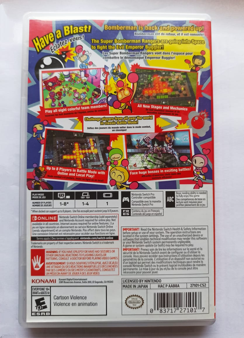 Super Bomberman R - USADO - Nintendo Switch