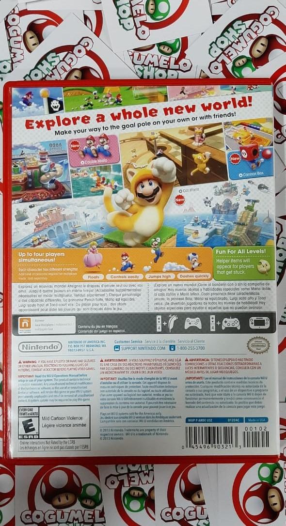 Super Mario 3D World - USADO - Nintendo Wii U