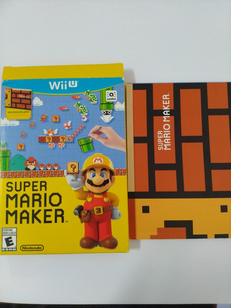 Super Mario Maker + IDEA BOOK - USADO - Nintendo Wii U