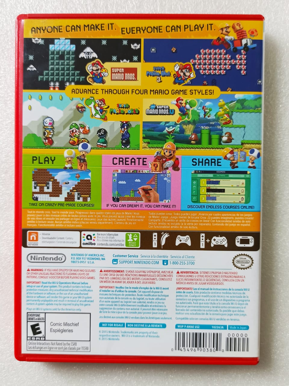 Super Mario Maker - USADO - Nintendo Wii U