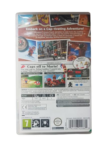 Super Mario Odyssey Europeu - Usado - Nintendo Switch