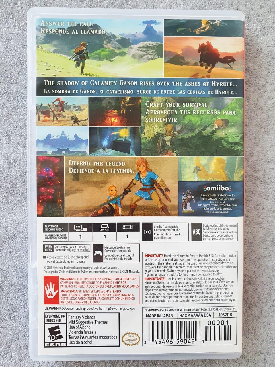 The Legend of Zelda: Breath of The Wild - Nintendo Switch - Usado
