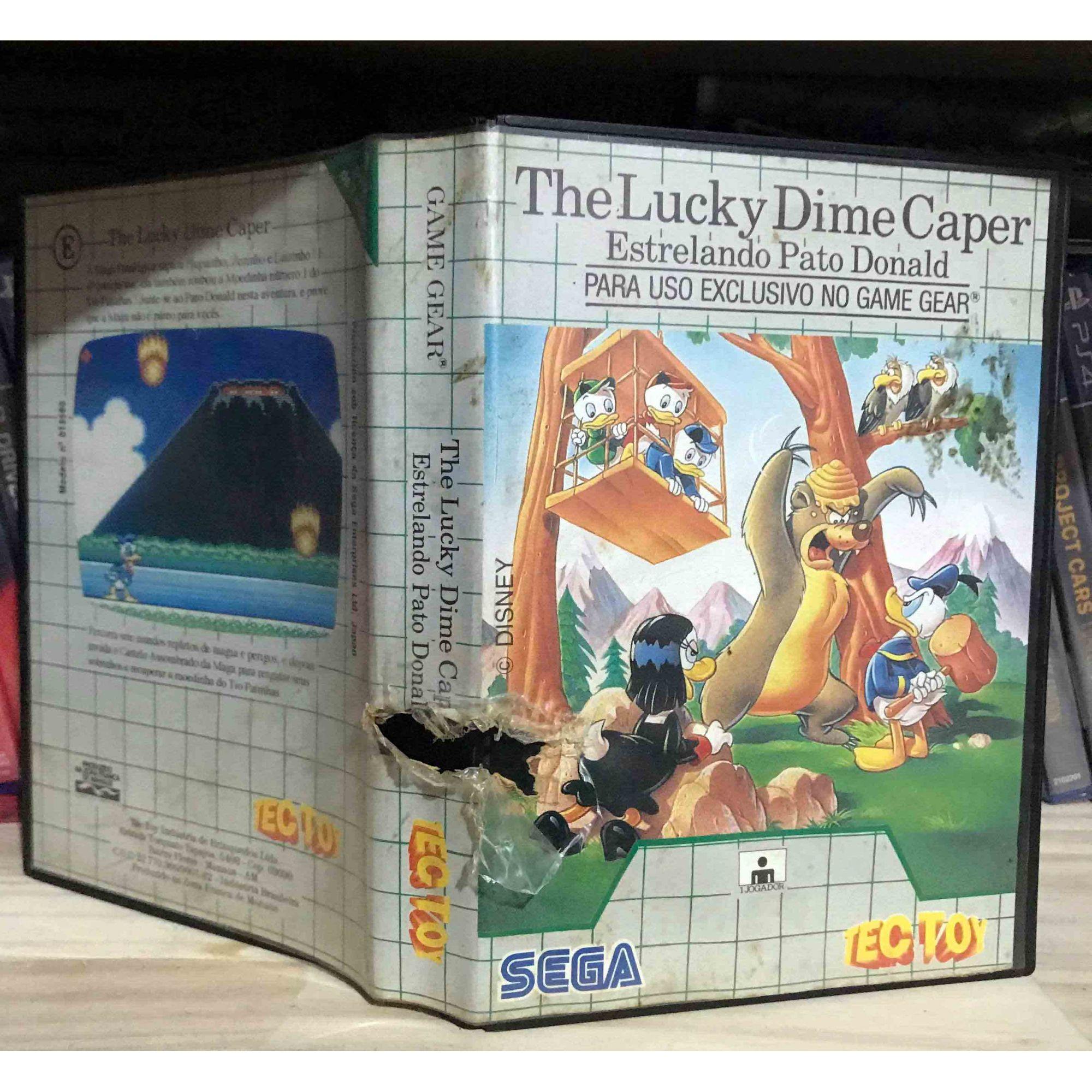 The Lucky Dime Caper - Estrelando Pato Donald - Game Gear - USADO