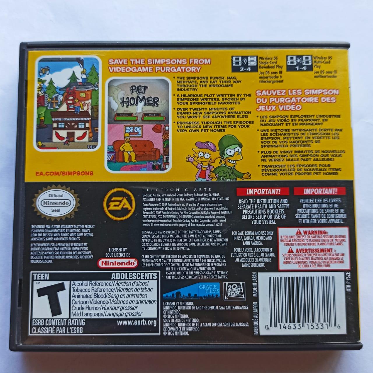 The Simpsons Game - USADO - Nintendo DS