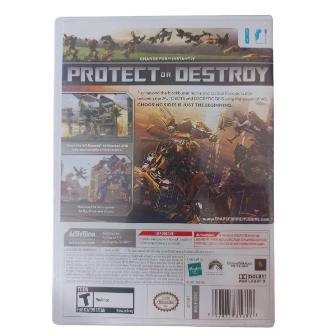 Transformers: The Game - Nintendo Wii - Usado
