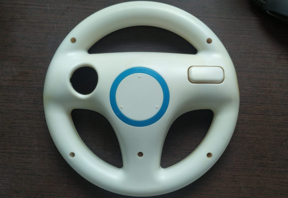 Volante (Branco) para Wii Remote - Nintendo Wii - Usado