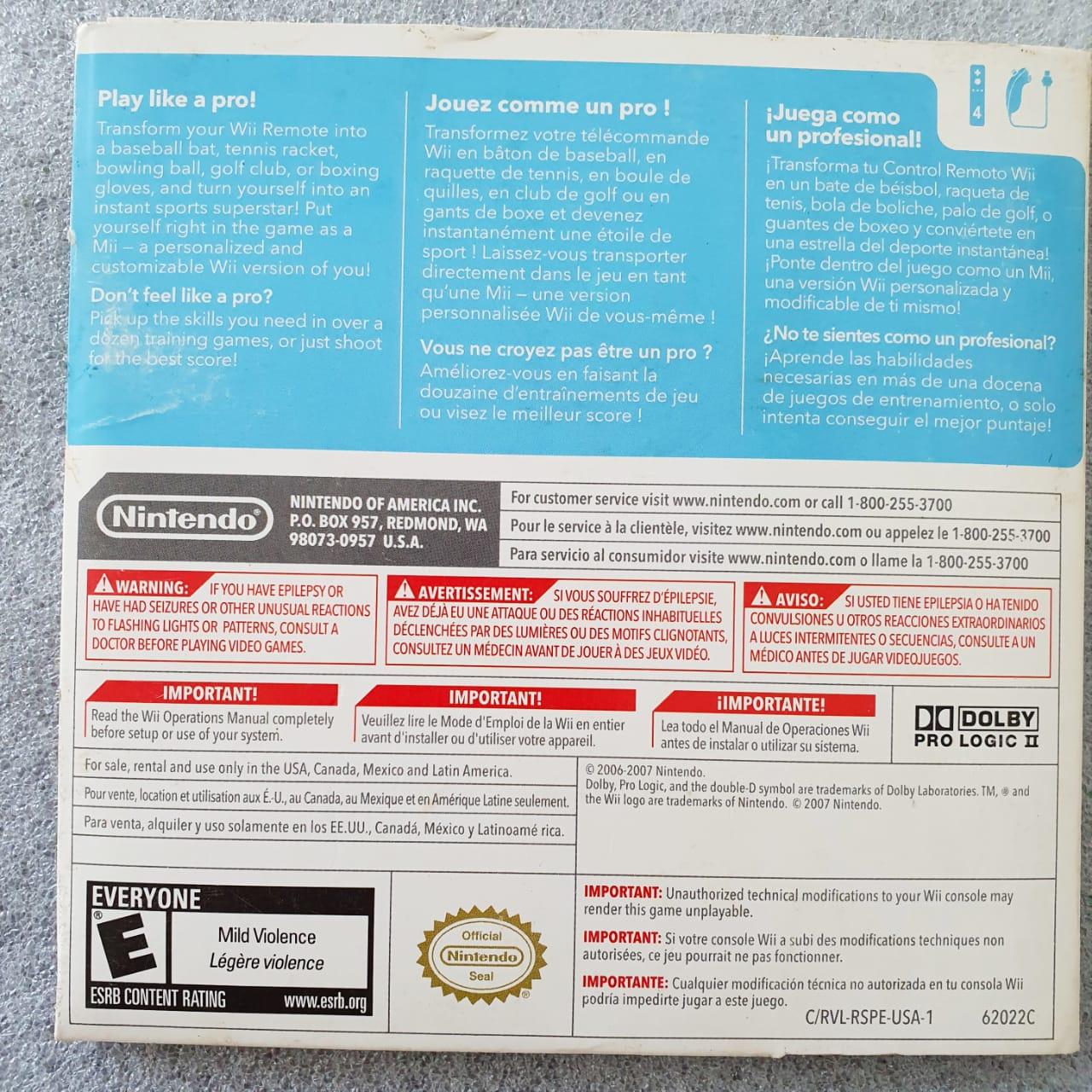 Wii Sports - Nintendo Wii - Usado