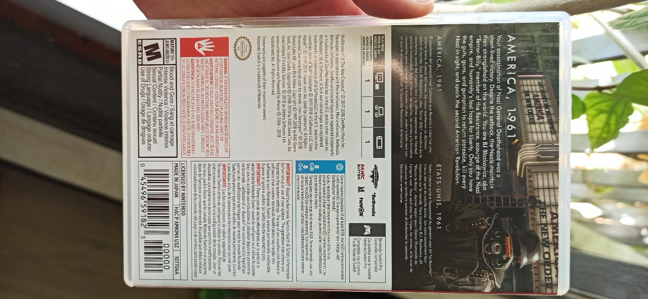Wolfenstein II: The New Colossus - Nintendo Switch - Usado