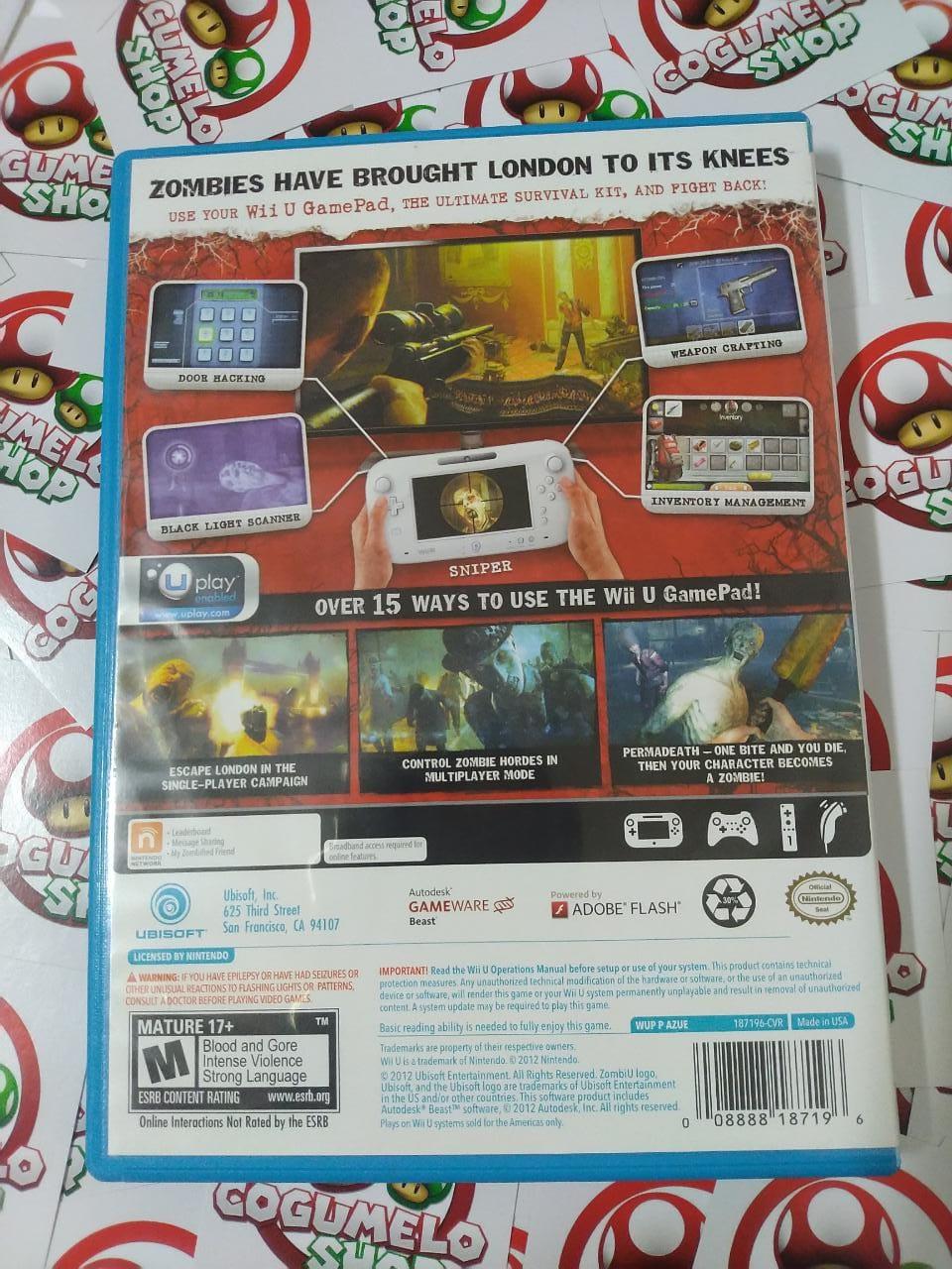 ZombiU - USADO - Nintendo Wii U