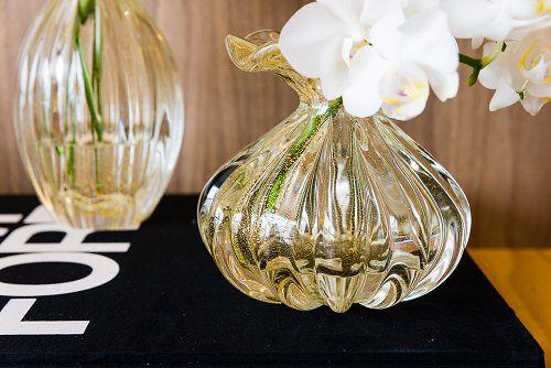 Mini Trouxinha Murano Capri Cristal com Ouro