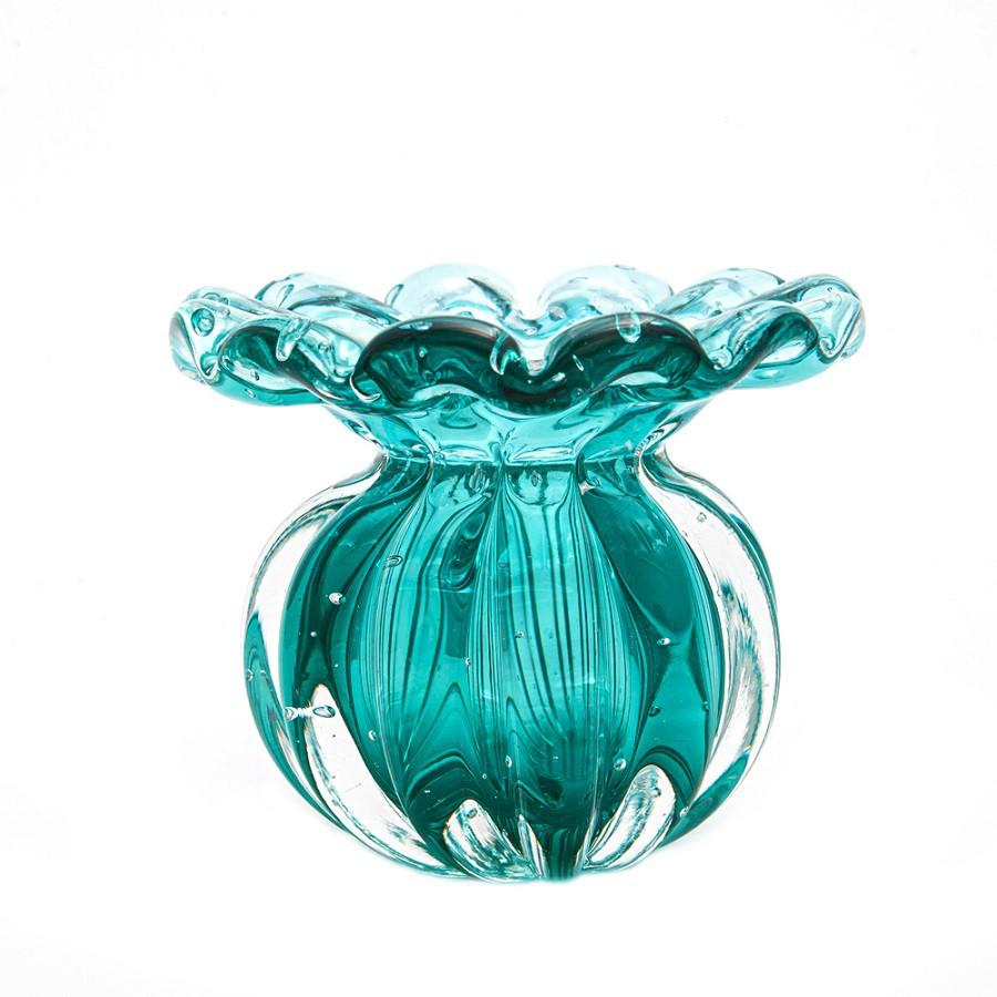 Mini Vaso Murano Battlo Esmeralda