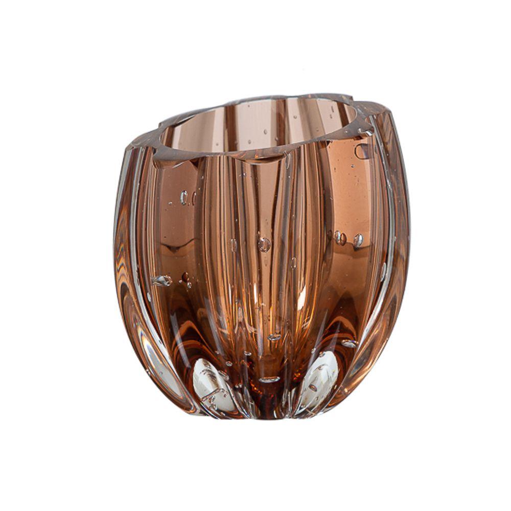 Mini Vaso Murano Marselha Bronze