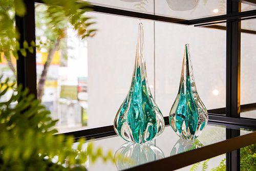 Gotas Murano Fênix Esmeralda
