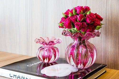 Vaso Murano Battlo Pink