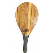 Raquete de Frescobol Fast Ball de Madeira Estampa Escura