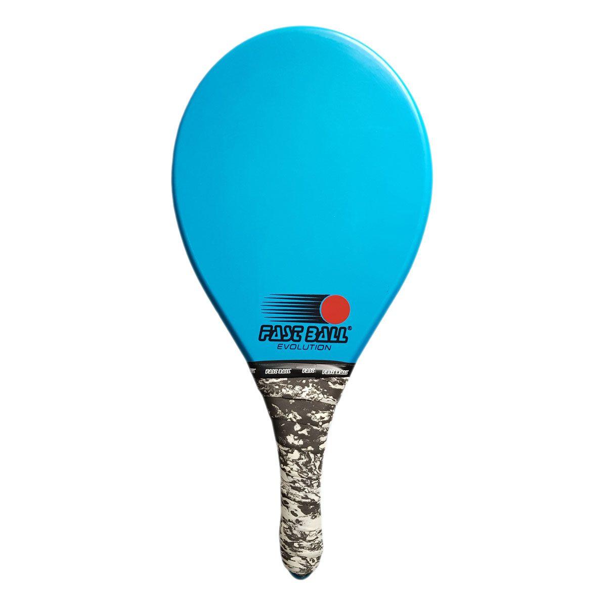 Raquete de Frescobol Fast Ball de Polímero Cor Azul