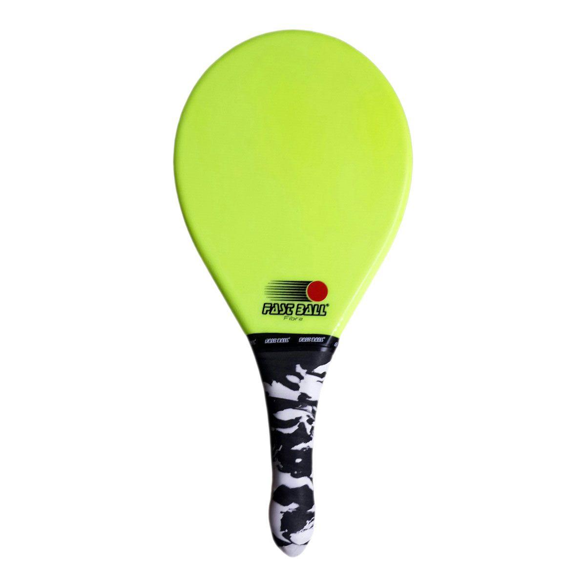 Raquete de Frescobol de Fibra Fast Ball cor Verde
