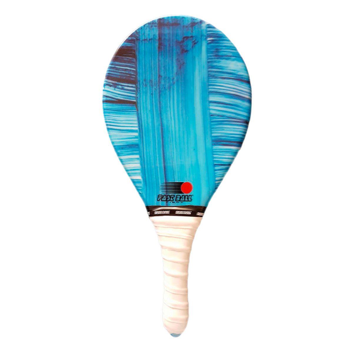 Raquete de Frescobol de Fibra com Estampa Colorida