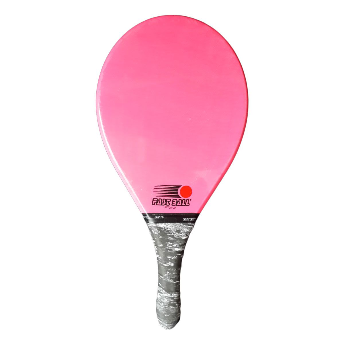Raquete de Frescobol de Fibra Fast Ball cor Rosa