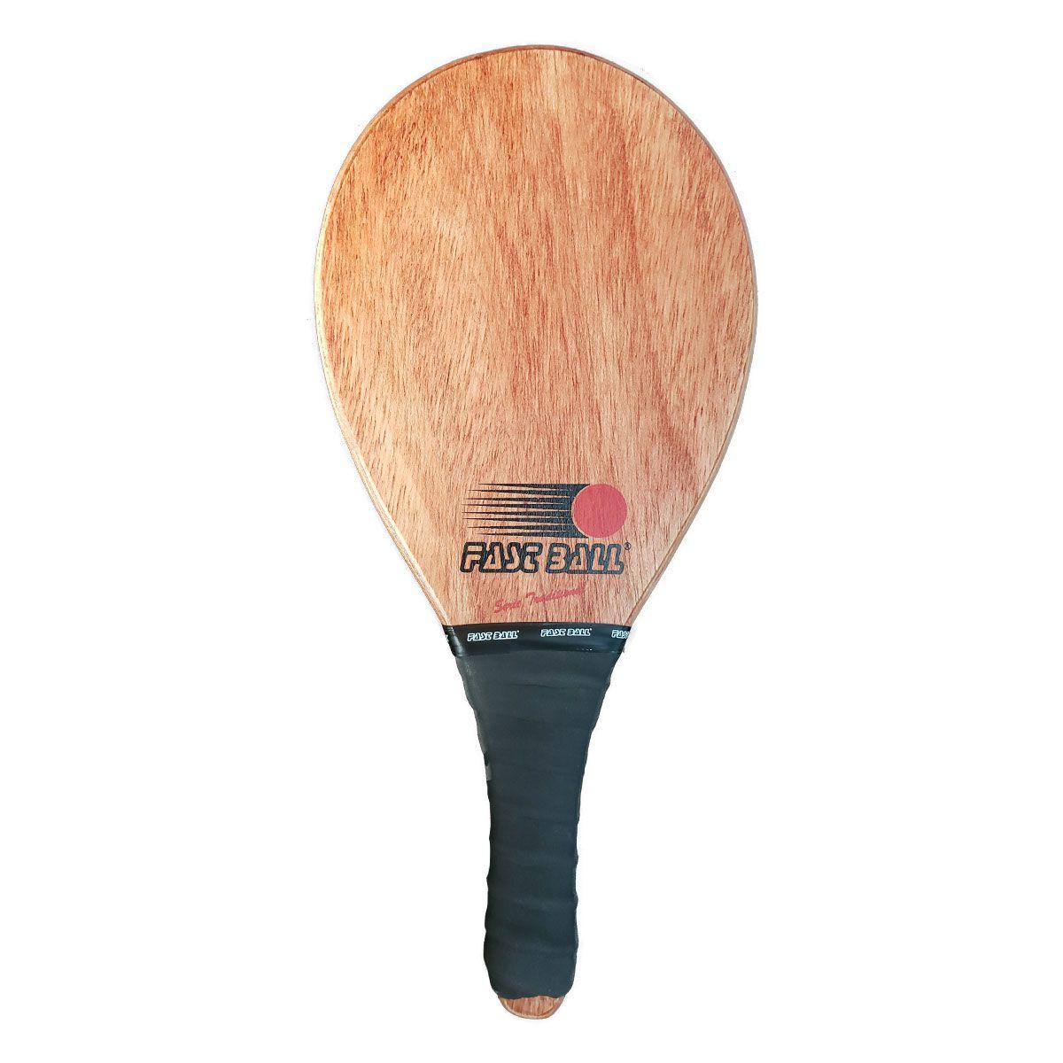 Raquete de Frescobol Fast Ball de Madeira Série Traditional
