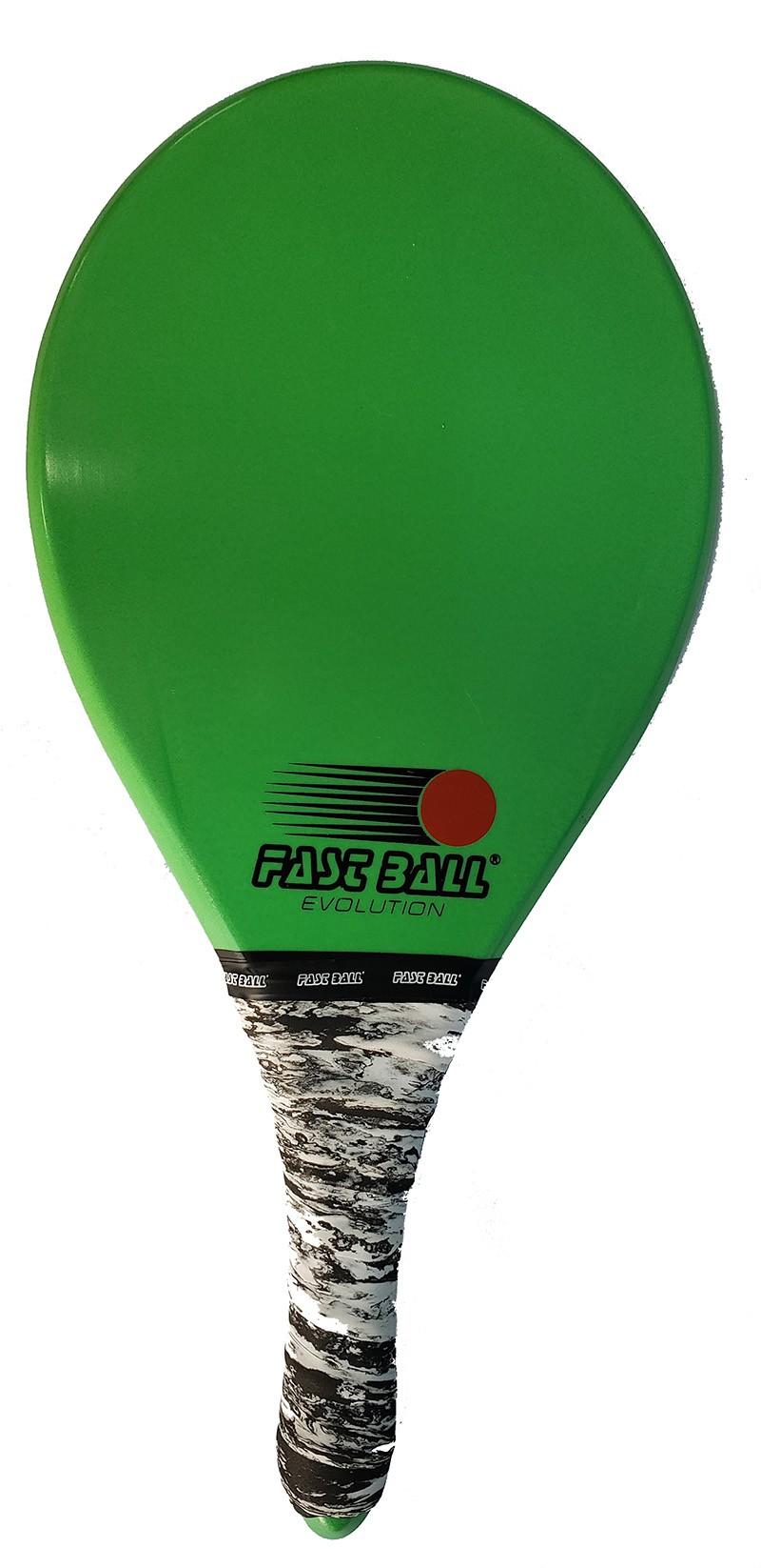 Raquete de Frescobol Fast Ball de Polímero Cor Verde