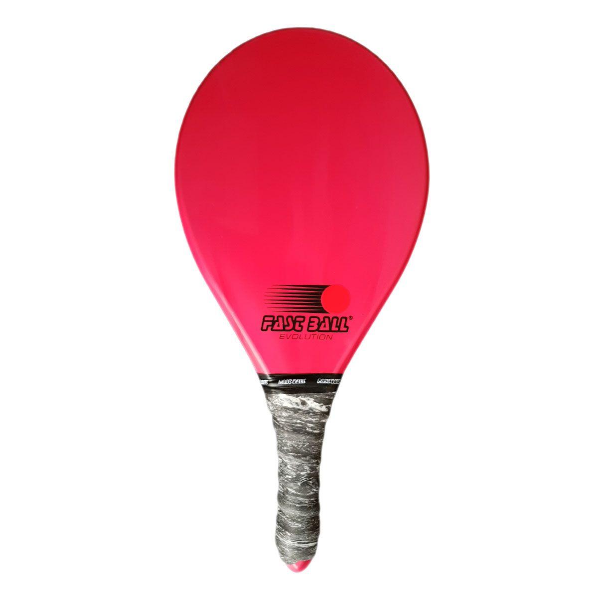 Raquete de Frescobol Fast Ball de Polímero Cor Vermelha