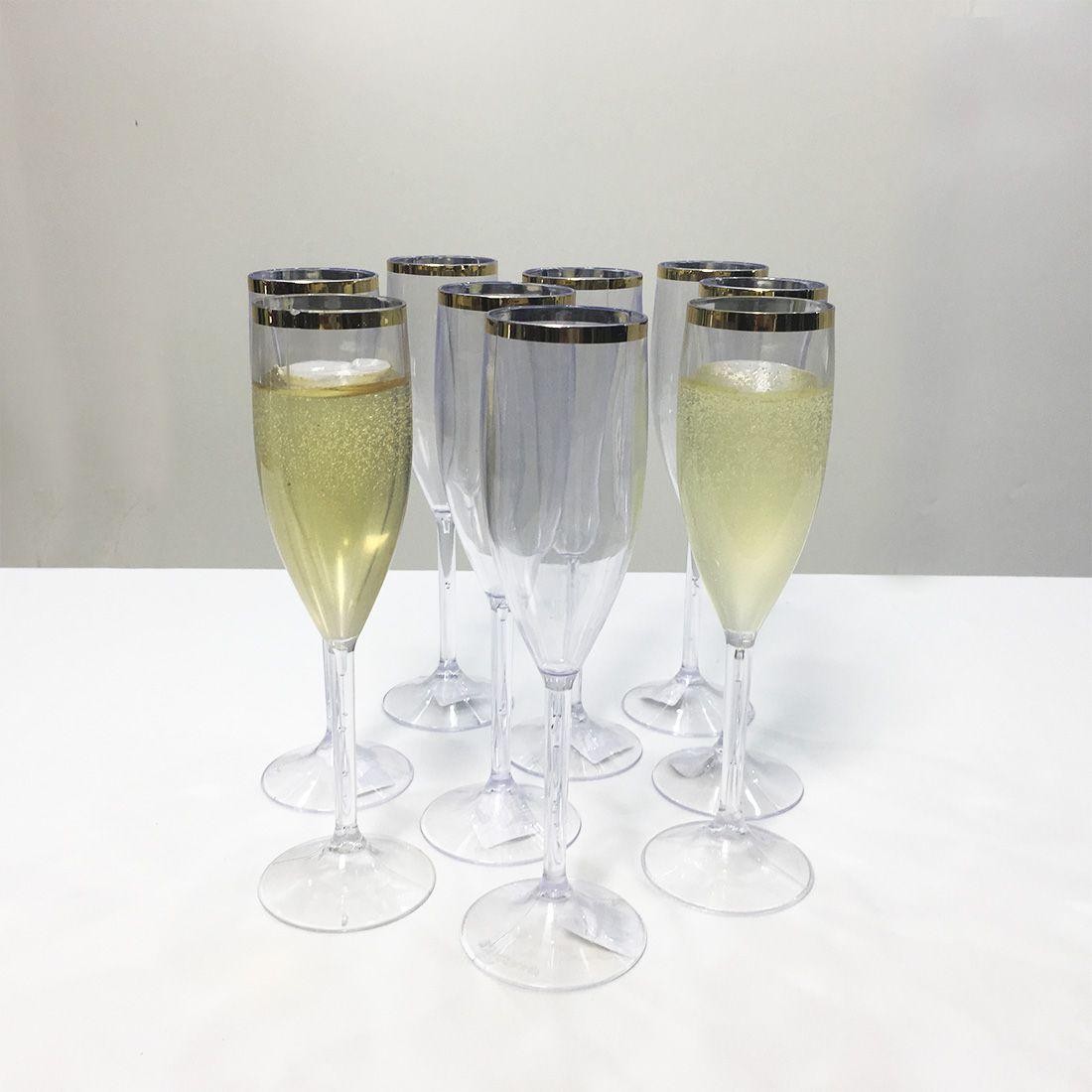 Kit Taça para Champanhe 150ml Dec Cristal Linha Ouro