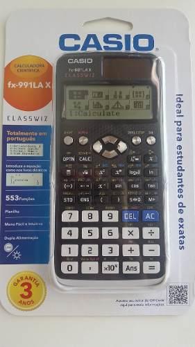 8a5d50d8af70 Calculadora Científica Casio Fx-991Lax ClassWiz Ideal para curso de ...