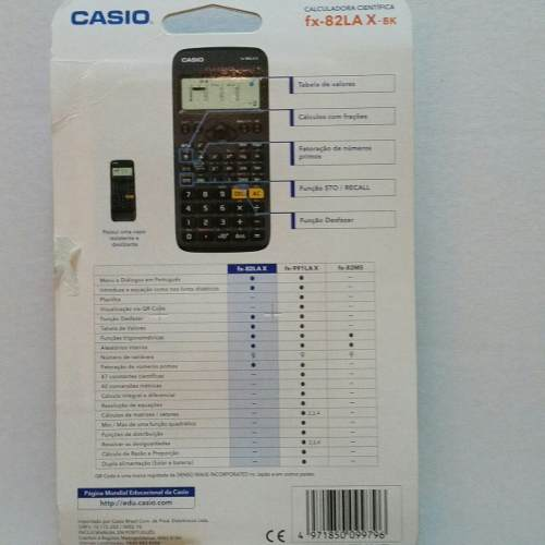 Calculadora Cientifica Casio Fx-82Lax Classwiz