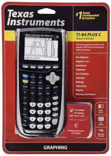 Calculadora Grafica Texas Ti-84 Plus C Silver Edition