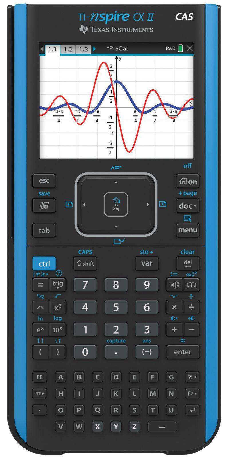 Calculadora Texas Ti-nspire Cx II Cas Kit com Capa+Pelicula+Cd Master