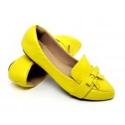 Mocassim  Napa Amarelo-Laço