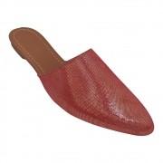 Mule Tradicional Nobuck Vermelho