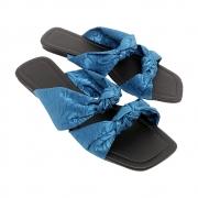 Rasteirinha Tradicional  Heloka Tecido Azul