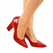 Salto Super Luxo Verniz Vermelho