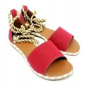 Sandália Super Luxo Lona Vermelho