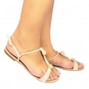 Sandália Super Luxo Napa Pele