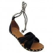 Sandália Super Luxo Nobuck Preto