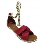 Sandália Super Luxo Nobuck Vermelho