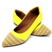 Sapatilha Confort  Napa Amarela/Trama Amarela